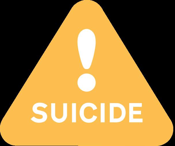 Suicide alert symbol.